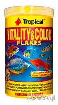 TROPICAL VITALITY & COLOR PŁATKI 250ml POKARM