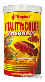 TROPICAL VITALITY & COLOR GRANULAT 1000ml POKARM